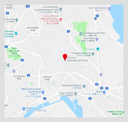 Google map location to Da Vinci International School, Okinawa
